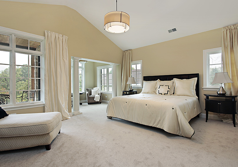 Carpet is the most popular choice for bedrooms