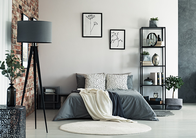 Dress the room with fabrics and pillows