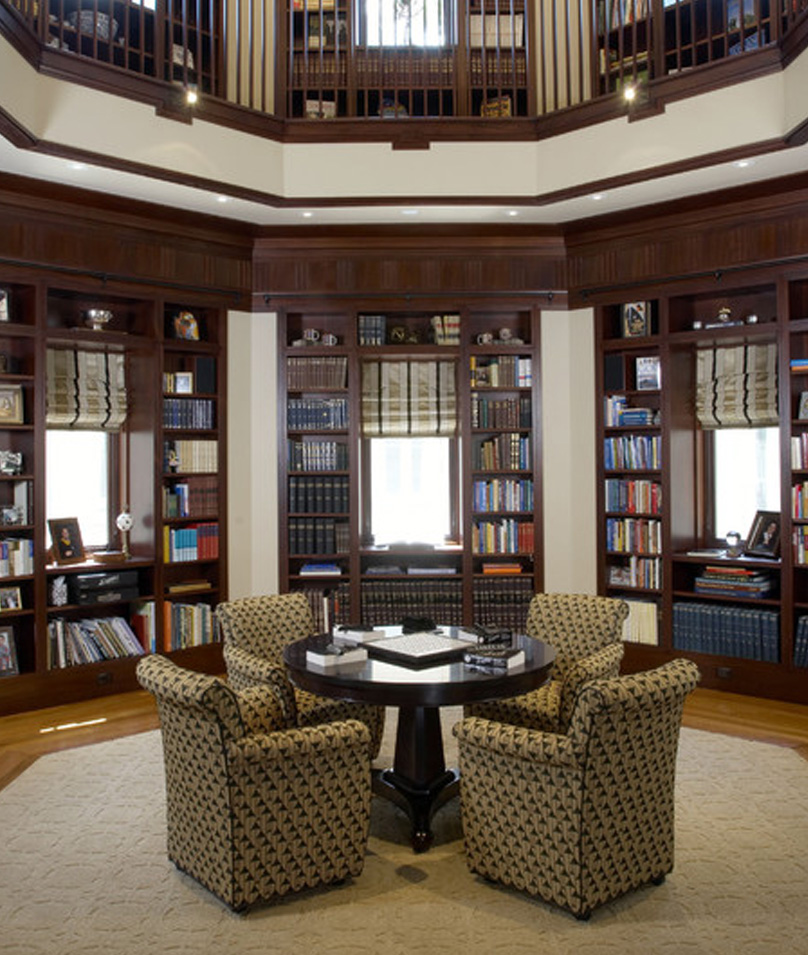 Home library style