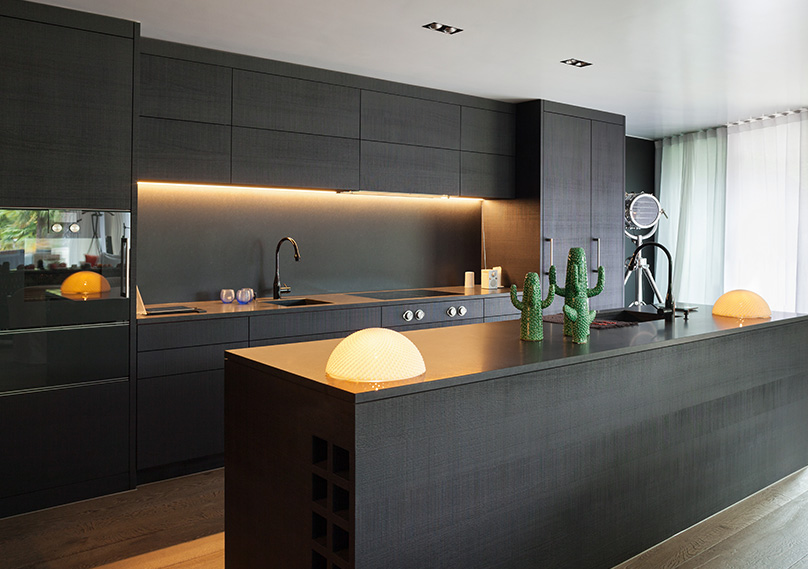 Lighting under cabinets is a great touch