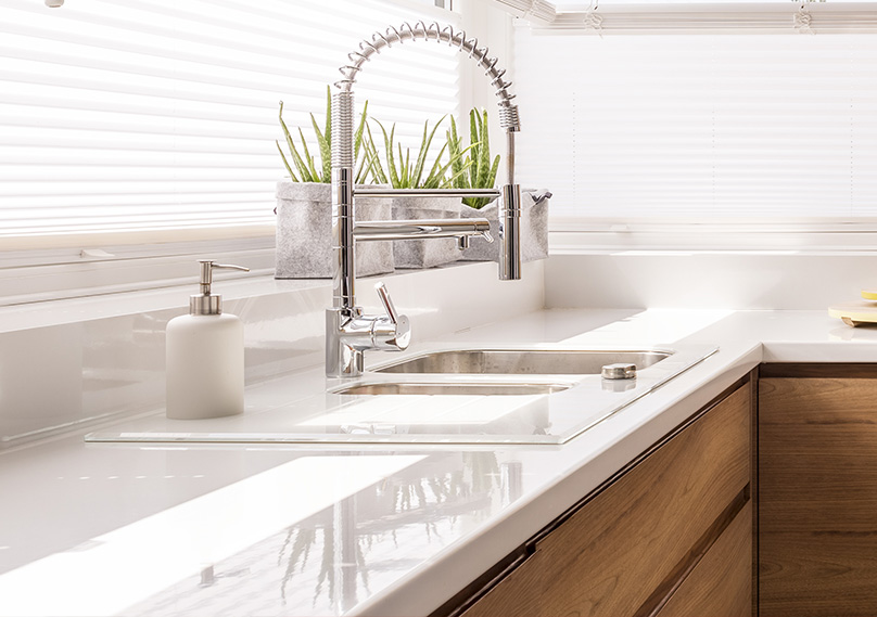 Plan your kitchen sink and faucet