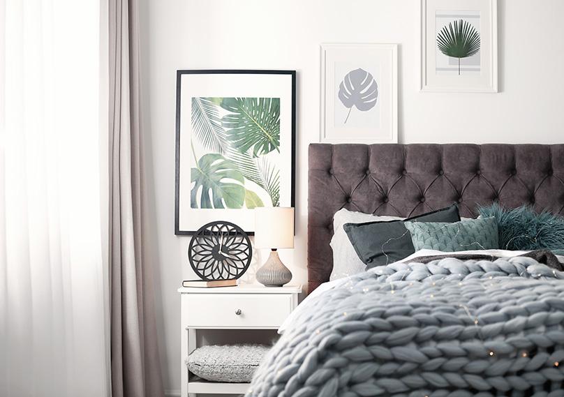 Subtle tones work best in bedrooms