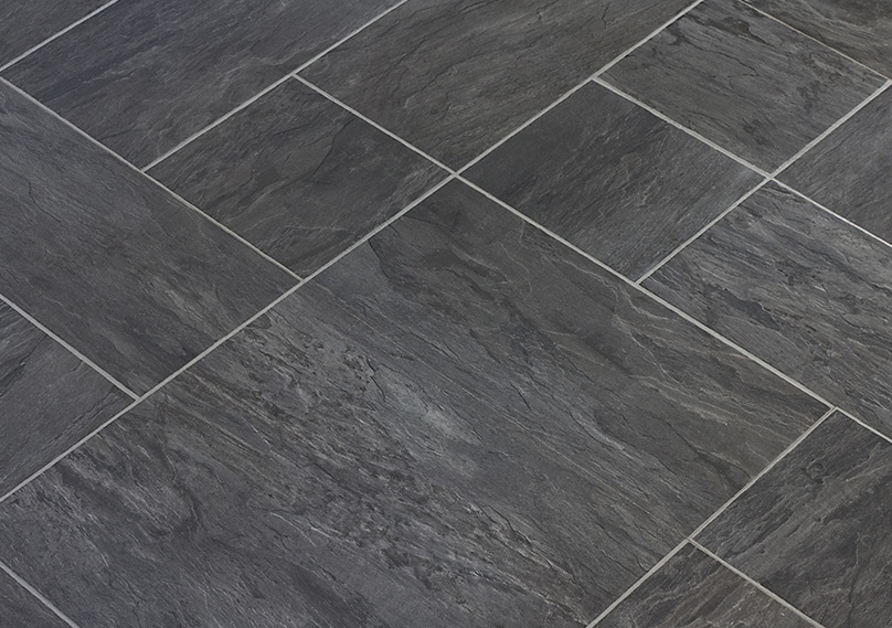Vinyl is available in many styles which can mimic tiles