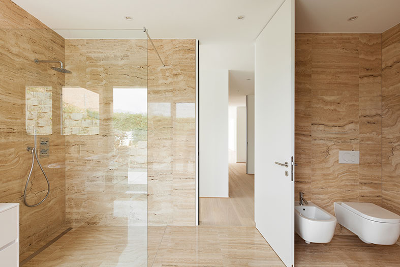 Wet rooms allow for a more open layout