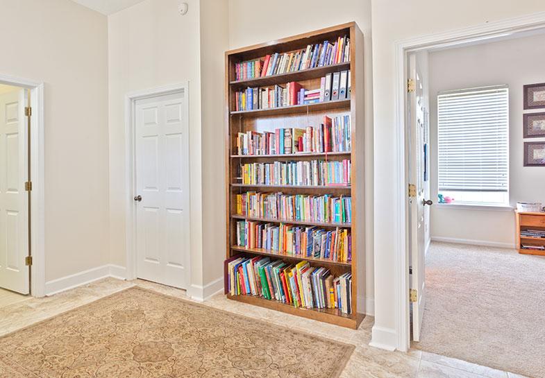 A book shelf is a must