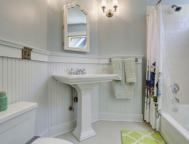 Wainscoting can add an elegant look