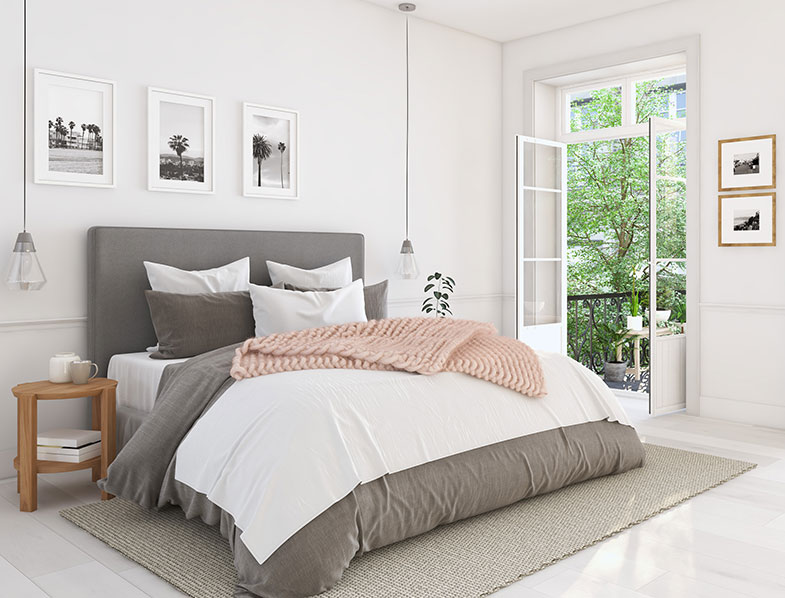 Make your bed the focal point