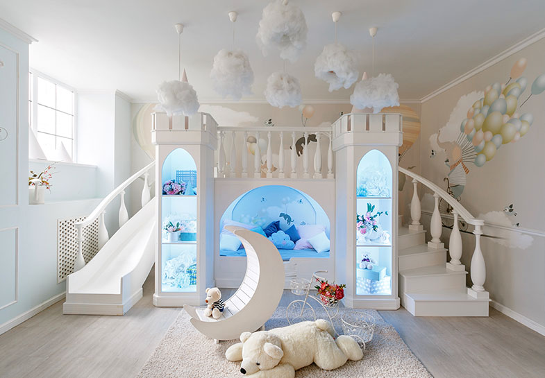 A bedroom slide!